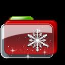 christmas-folder-snow-stars-icon